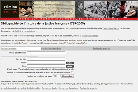 Bibliographie de l'histoire de la justice française