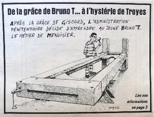 Dessin de Daulle en première page de Libération, 20 février 1976