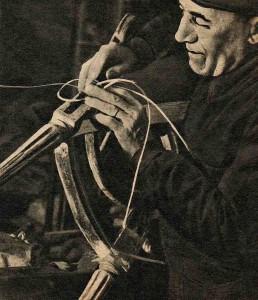 L'atelier des chaises dans la maison centrale de Fontevrault en 1939