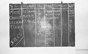 Le tableau des résultats des élections présidentielles de 1965 dans la détention. Photographie d'Armand Belvisi