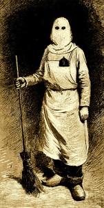 Le capuchon et la tenue d'un détenu au travail