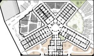 Plan de l'ancienne prison devenue faculté de droit http://www.febelcem.be/fileadmin/user_upload/dossiers-ciment-2008/fr/A7%20FR%20UHasselt.pdf