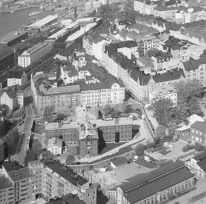 La prison dans la ville. Photographie conservée dans l'hôtel.