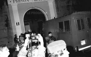 Retour de Klaus Barbie à Montluc, cette fois-ci inculpé pour crime contre l'humanité. 1983.