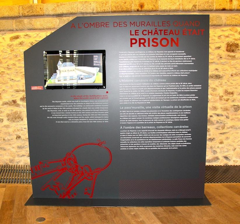 Introduction à l'exposition avec une reconstitution en 3 D de la prison
