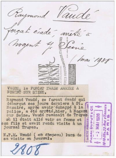 Raymond Vaudé en 1938