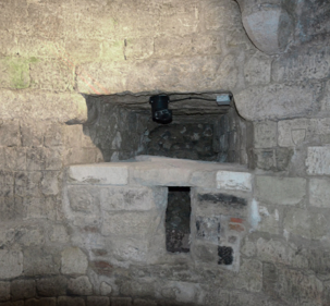 Fig. 11. Château de Selles. Niveau 1. Tour 4. Archère-canonnière (LANI, M., 2014).