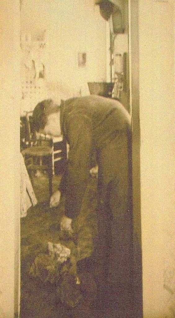 Photographie réalisée lors de la reconstitution du crime. Archives départementales de la Seine-Maritime