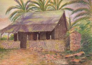 La seconde des cabanes occupées par Dreyfus. Fonds Ubaud, Musée Ernest Cognac, Saint-Martin-de-Ré