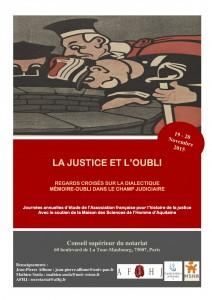 Affiche Justice et Oubli