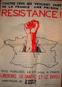 Affiche de la Gauche Prolétarienne appelant à manifester le 27 mai 1970 (collection J.-C. Vimont)