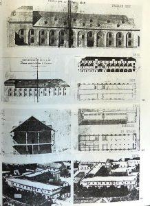 Aspects successifs du bâtiment des convers, de 1818 à 1870 : ADA, 1275W18, rapport pour le ministère de l'Environnement intitulé Évolution historique et architecturale du site de Clairvaux 1115-1981, de Colette Manassero et Michel Garreau.