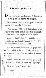 Extrait du livre de Clovis Savoie sur l'histoire de la Nouvelle-Calédonie publié en 1922