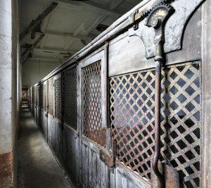 Cages à poules du premier étage : photographie, collection particulière.
