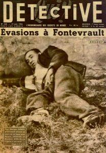 Couverture du Détective en date du 27 juin 1955 illustrant une triple évasion, © Service Régional de l'Inventaire, Région des Pays de Loire.