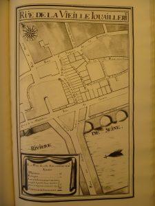 Image 6 : Les échoppes, boutiques et maisons en bordure du Grand Châtelet. Archives nationales – Q1* 1099
