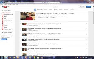 Fig. 22. Capture d'écran de la playlist YouTube© consacrée aux «Mémoires de la Centrale».
