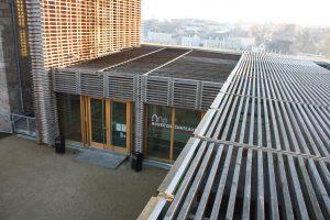 Fig. 23 Extension contemporaine, vue du toit © Musée du château de Mayenne.