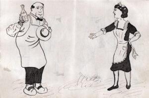 Élie Ollier, Carnet de dessins, 1940, p. 7, Collection Philippe Zoummeroff
