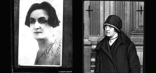 A gauche, Paul Grappe alias Suzanne Langdard, à droite Louise Landy, femme Grappe, Fonds Petit Parisien/ENAP-Criminocorpus.