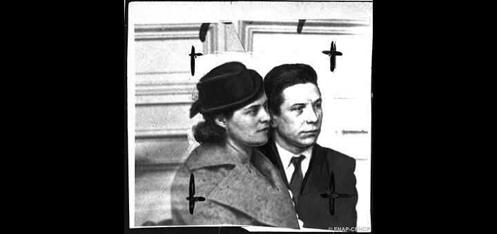 Louis Durand et sa femme née Pialat, faussaires arrêtés, Fonds Petit Parisien/ENAP-CRHCP/Criminocorpus