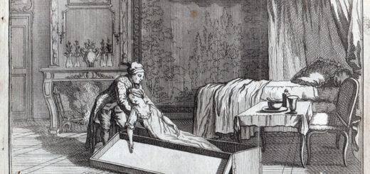 """""""Antoine François Desrues ayant empoisonné Made de la Motte mit son cadavre dans un malle le 1er février 1777 et la déposa au Louvre chez un Menuisier, pour la faire ensuite transporter et enterrer dans une cave rue de la Mortellerie, il a été rompu vif et jetté au feu le 6 mai 1777."""", Desrues : récit des crimes perpétrés par Desrues et de son exécution, planche 3, chez Esnauts et Rapilly, collection Philippe Zoummeroff/Criminocorpus"""